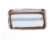 Glass Lamp Bead Rectangle 18x10x6mm Montana/Bronze